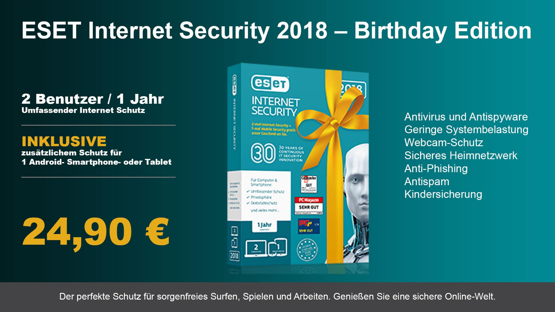 Eset Internet Security Birthday Angebot