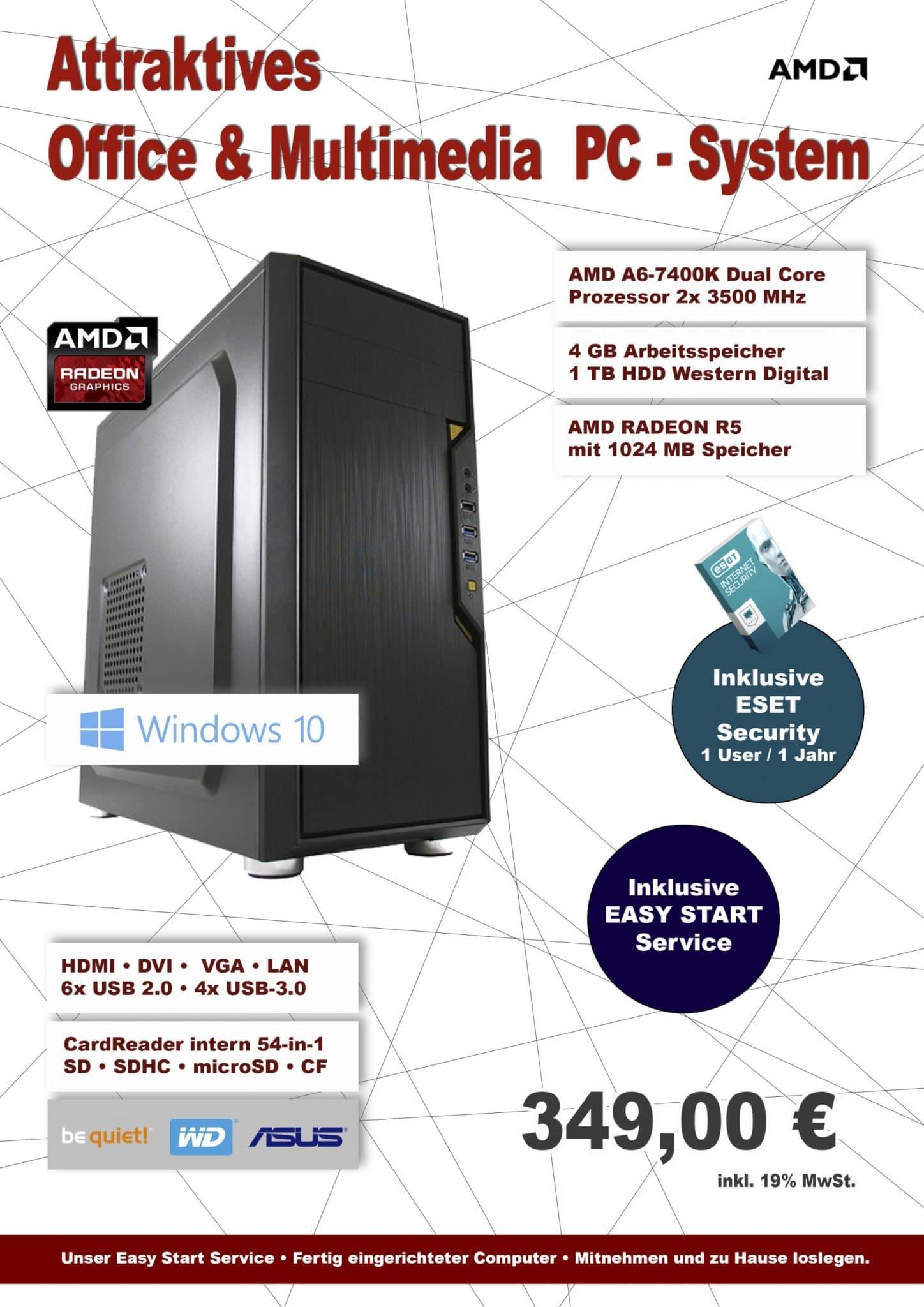 AMD Office I Desktop PC System